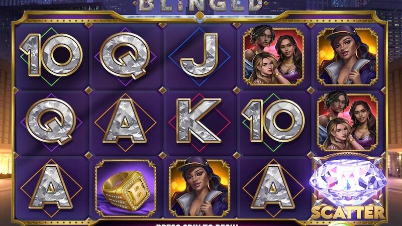 blinged slot gameplay