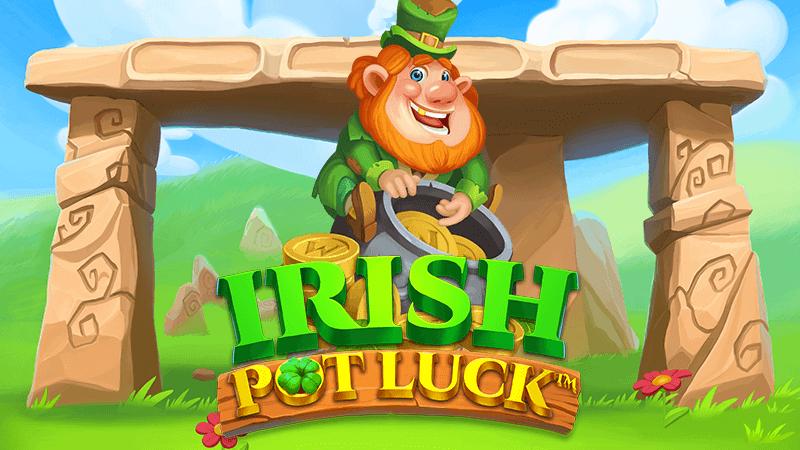 irish pot luck slot logo