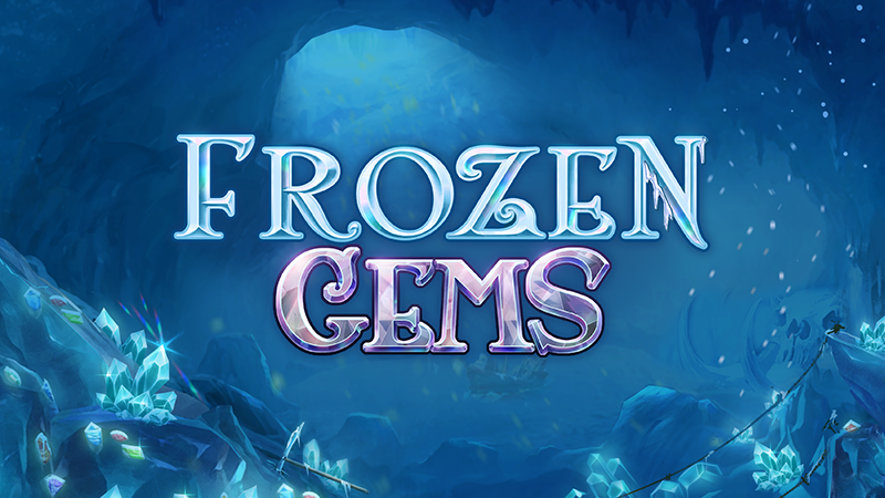 frozen gems slot logo