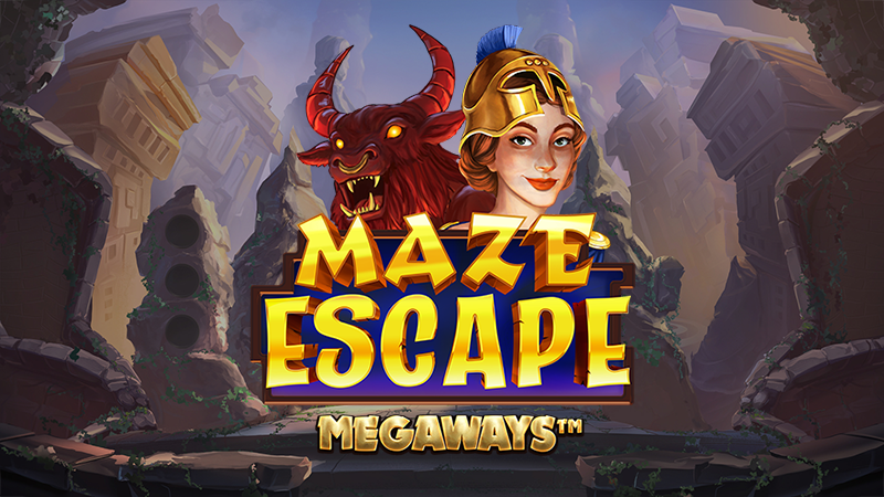 maze escape megaways slot logo