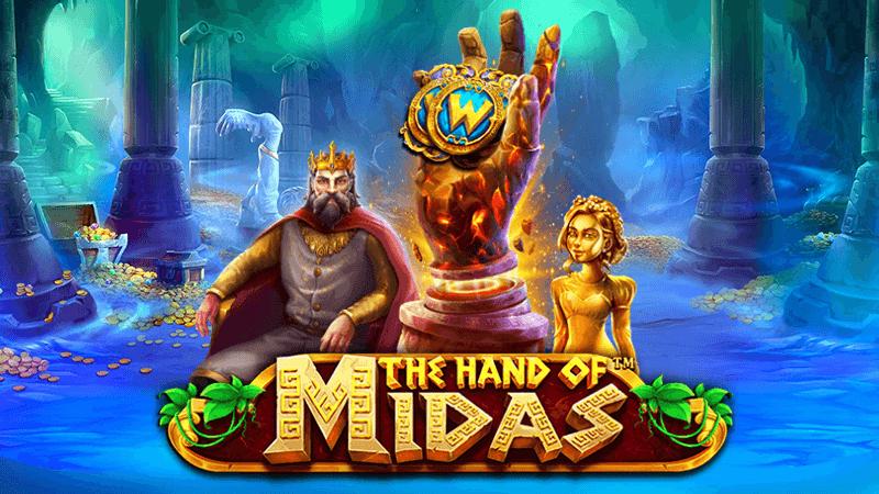 the hand of midas slot logo