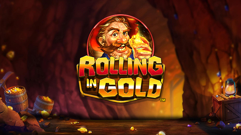 rolling in gold slot logo