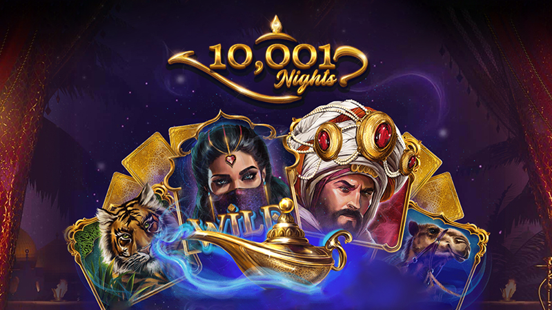 10001 nights slot logo