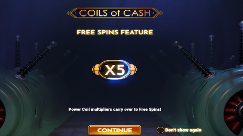 coils of cash slot rules