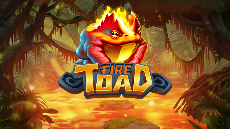 fire toad slot logo