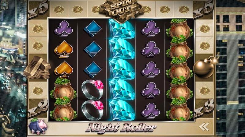 night roller slot gameplay