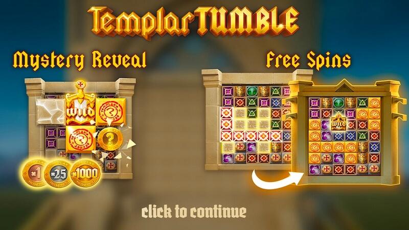 templar tumble slot rules