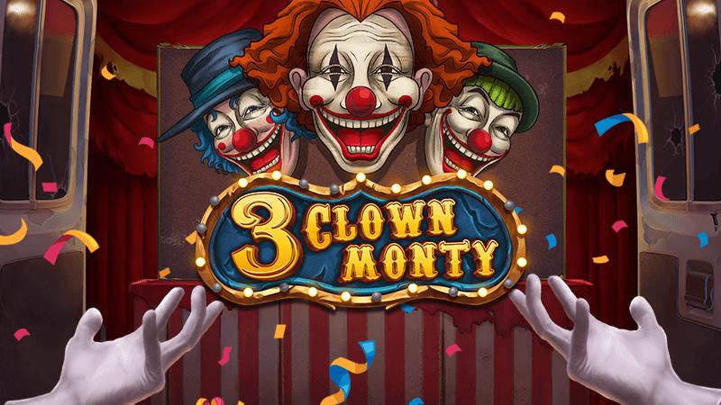3 clown monty slot logo