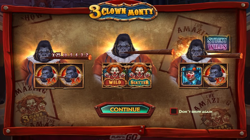3 clown monty slot rules