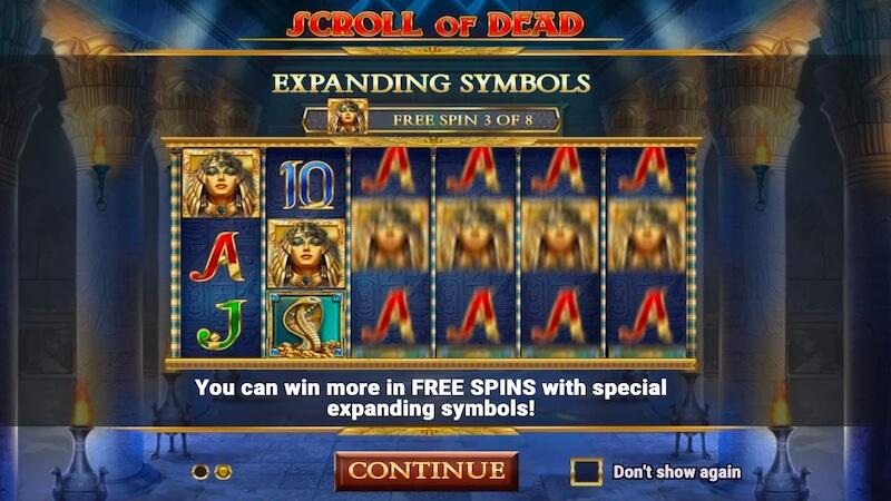 scroll of dead slot rules