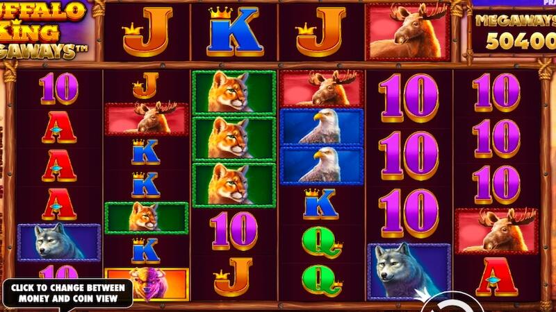 buffalo king megaways gameplay