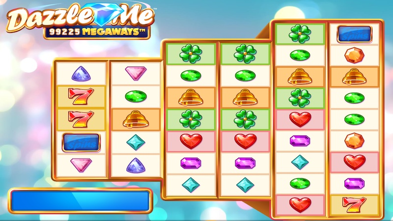dazzle me megaways slot gameplay