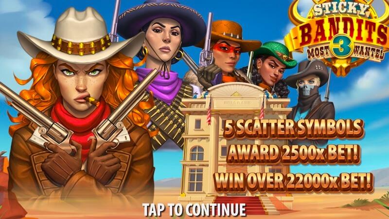 sticky bandits 3 slot rules