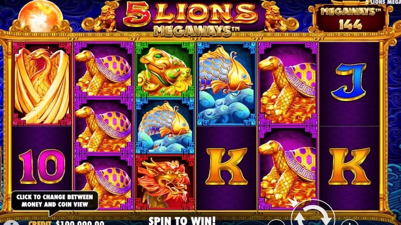 5 lions megaways slot gameplay