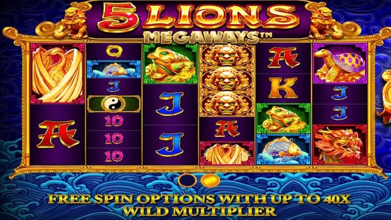 5 lions megaways slot rules