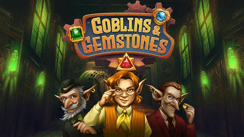 goblins and gemstones slot logo