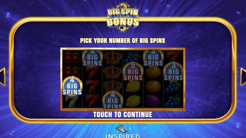 big spin bonus slot rules