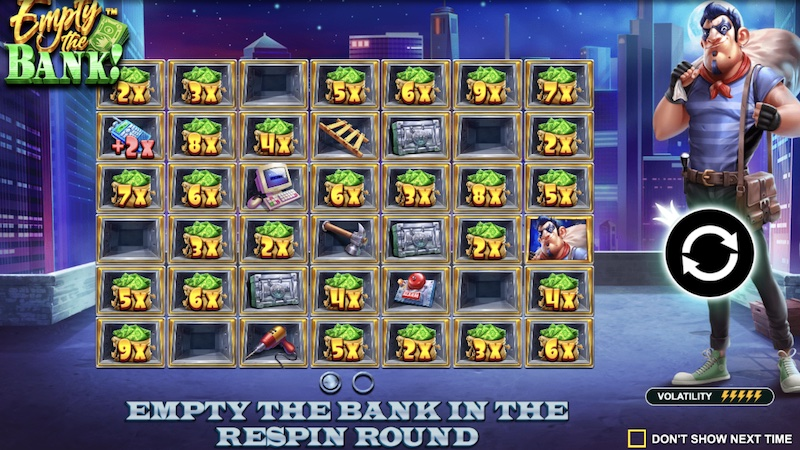 empty the bank slot rules