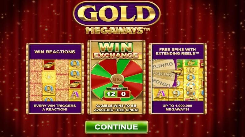 gold megaways slot rules