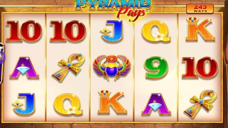 pyramid pays slot gameplay