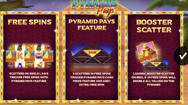 pyramid pays slot rules