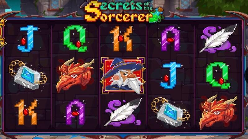 secrets of the sorcerer slot gameplay
