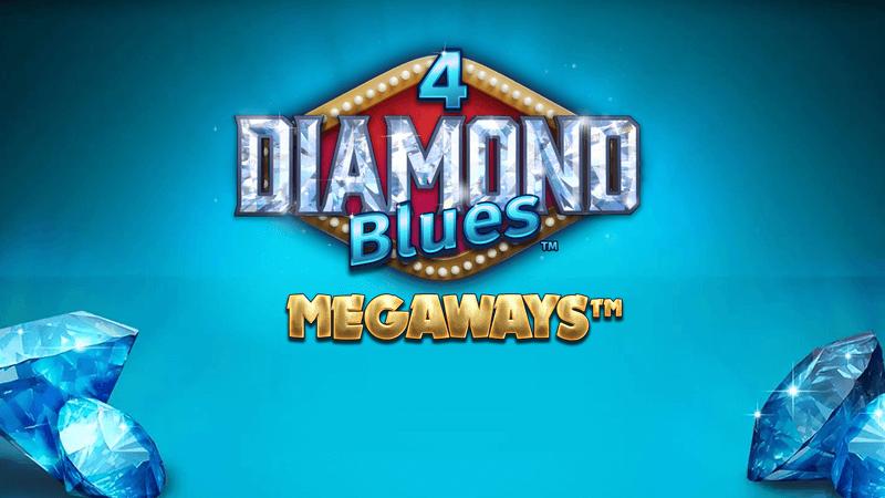 4 diamond blues slot logo