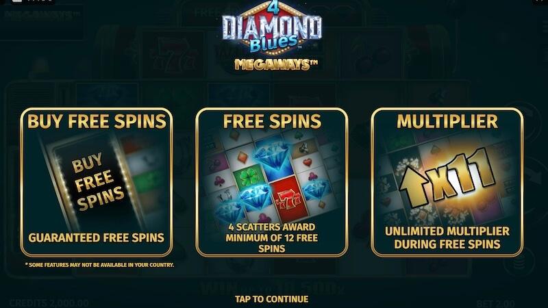4 diamond blues slot rules