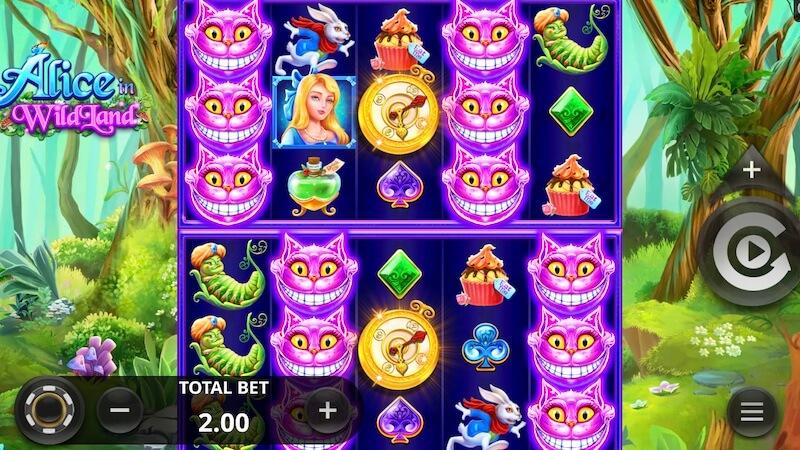 alice in wildland slot gameplay