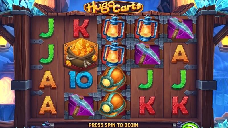 hugo carts slot gameplay