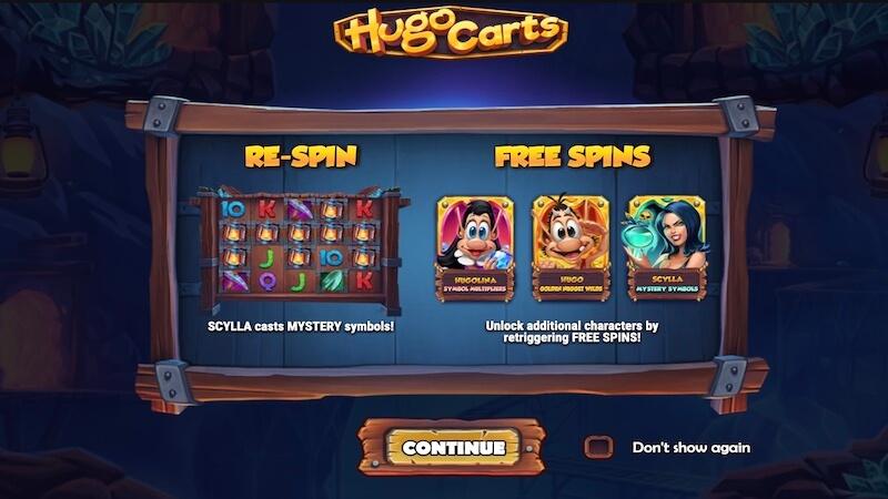 hugo carts slot rules