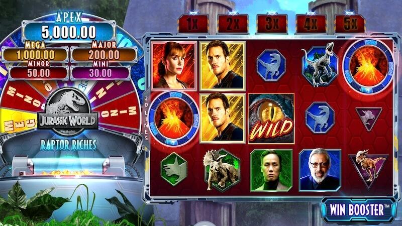 jurrasic world slot gameplay