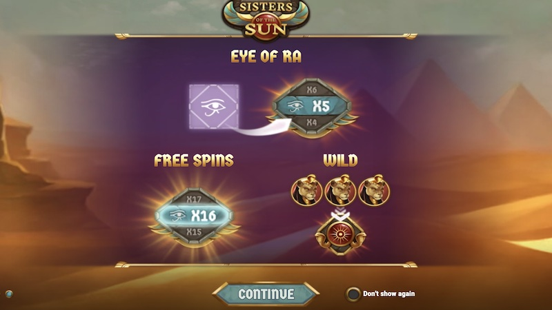 sisters of the sun slot rules