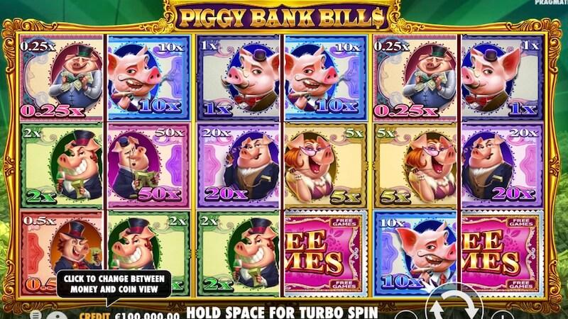 piggy bank bills slot gameplay