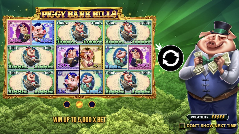 piggy bank bills slot rules