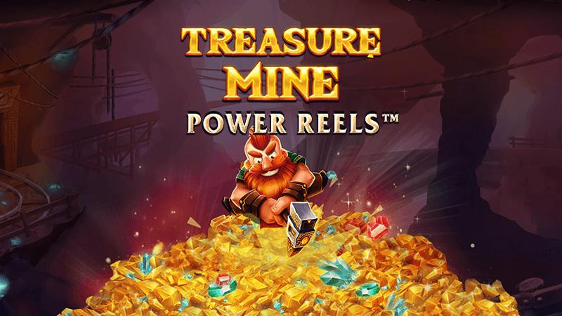 treasure mine slot logo