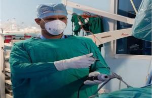 Endoscopic discectomy