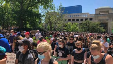 Indianapolis , largest protest against racial