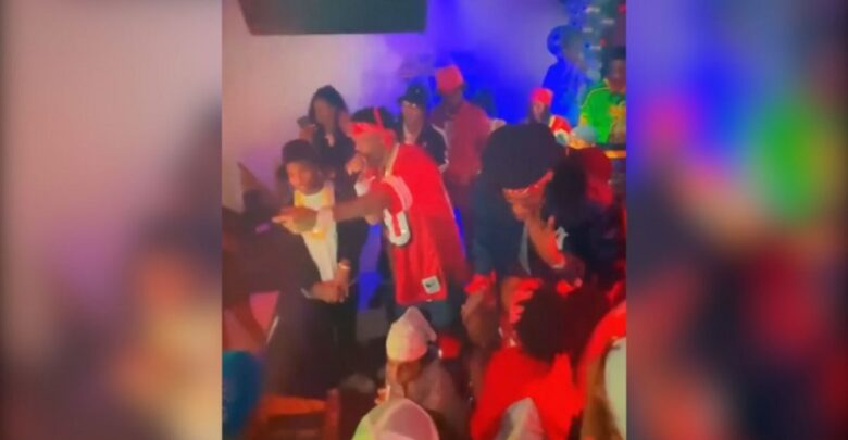#Celebs mingle #without_masks at #birthday_party for #Lil_Wayne's daughter