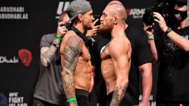#Dustin_Poirier #defeats #Conor_McGregor with a knockout in the 2nd round