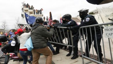 #Capitol_offices evacuated as #Trump_supporters clash with #police on steps and seize inauguration stands