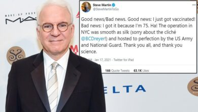 #Steve_Martin has '#Good_news/#Bad_news' about getting vaccinated