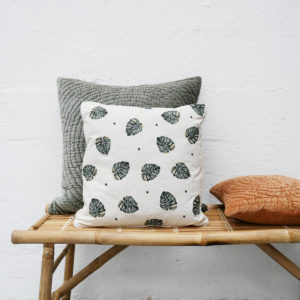Elizabeth-Scarlett-Cushion-and-green-velvet-cushion