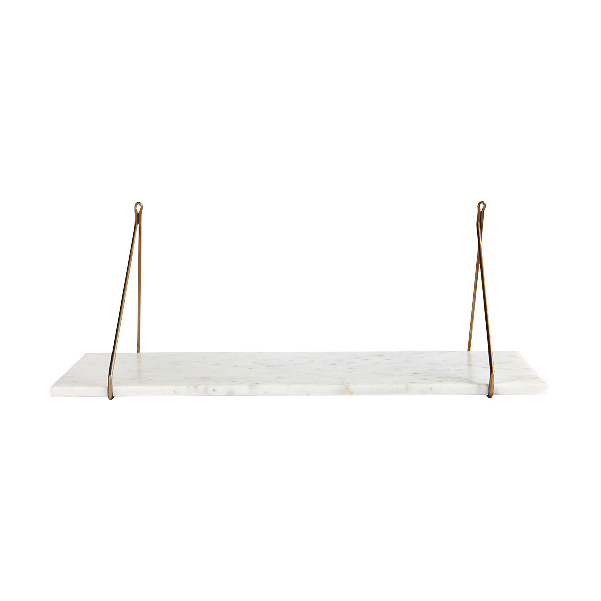 House Doctor white marble shelving with bracket sa0900