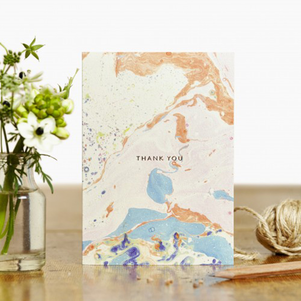 Katie Leamon Blue Marble Thank You Card 13436