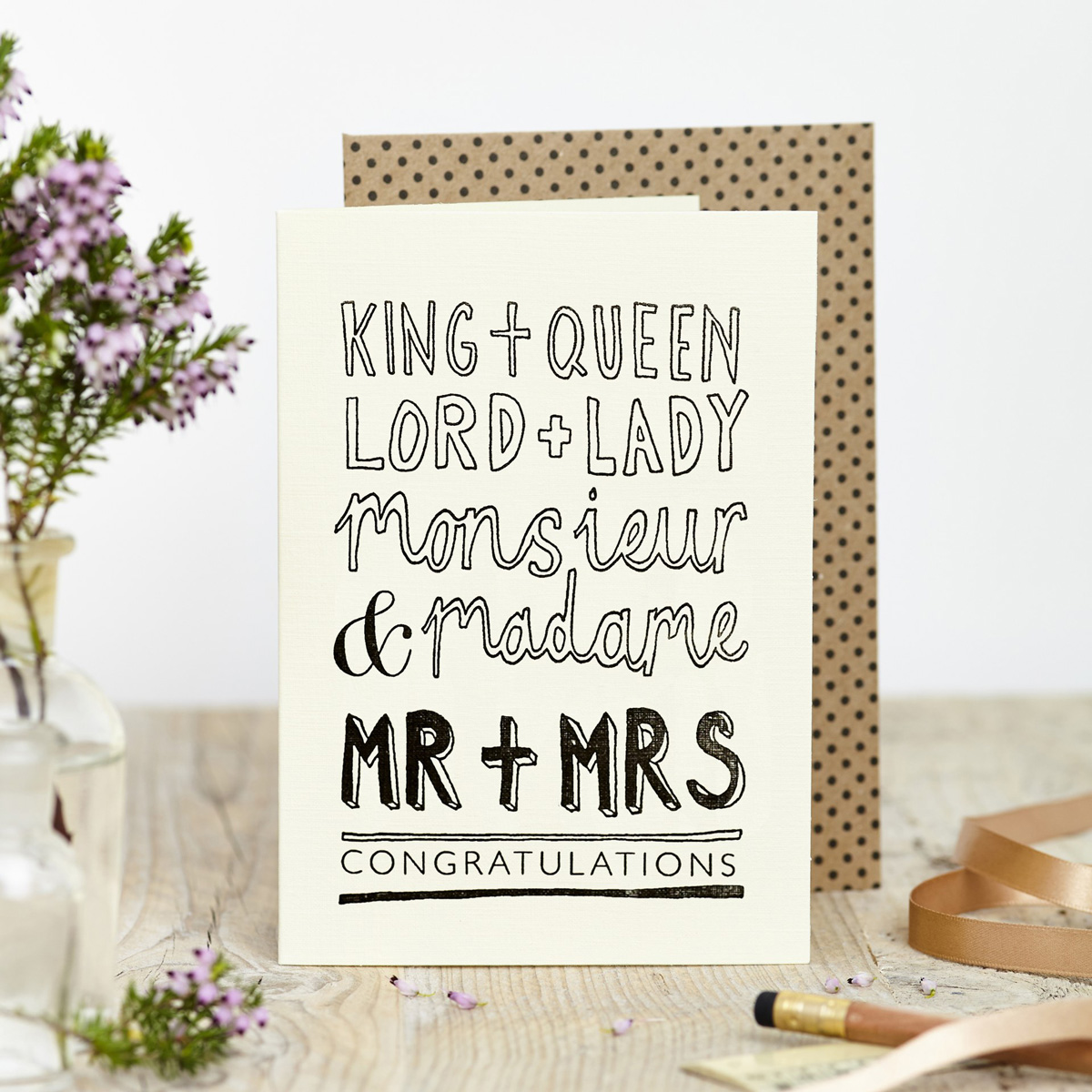 Katie Leamon King & Queen Congratulations Card