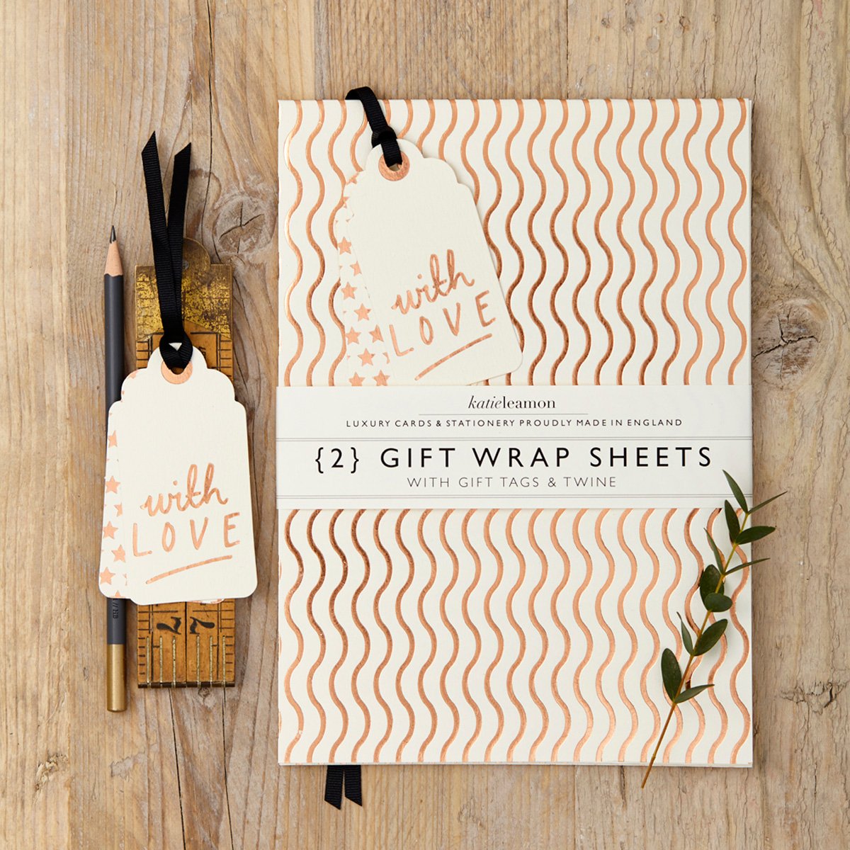 Katie Leamon luxury gold & white marble gift wrap sheets