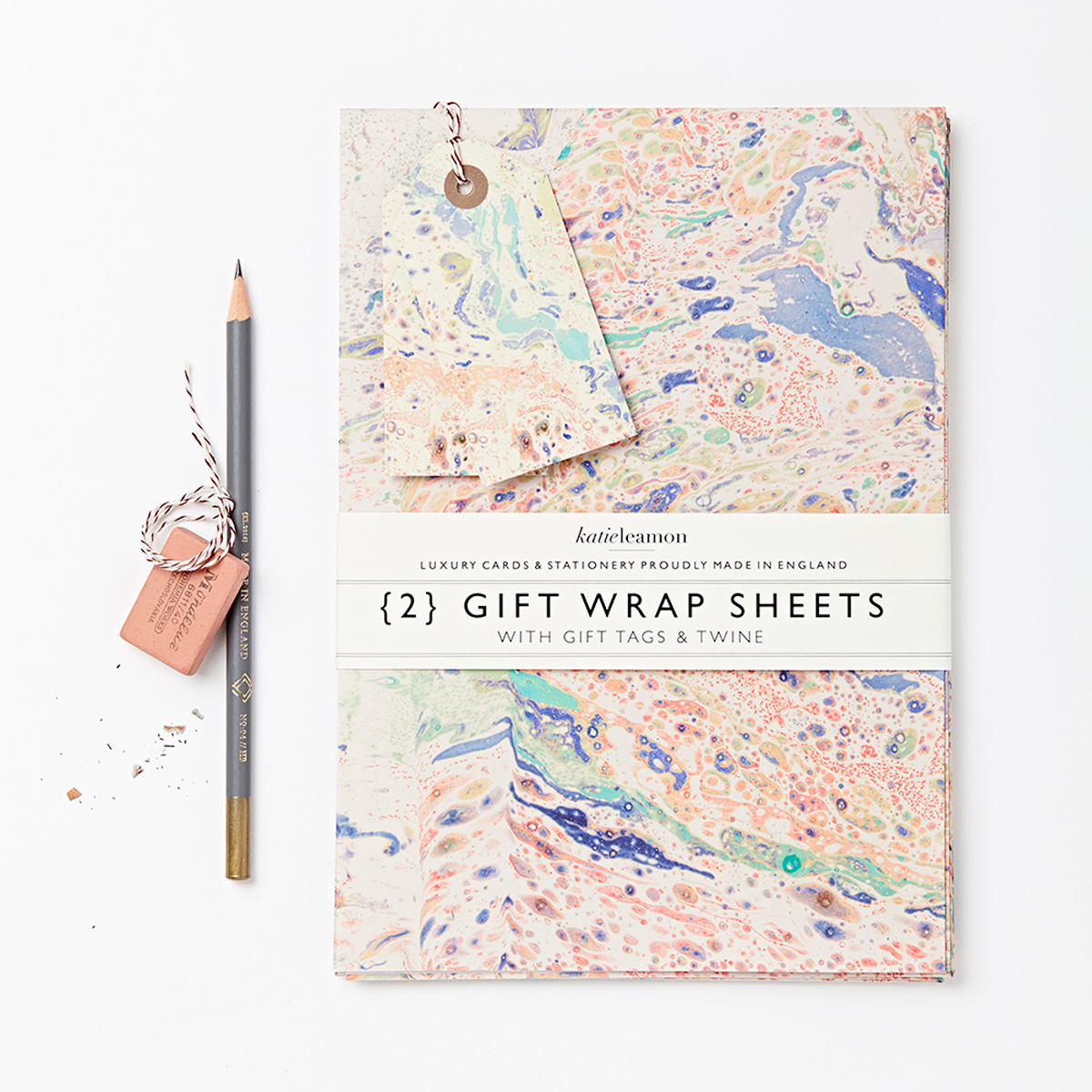 Katie Leamon luxury marble gift wrap sheets