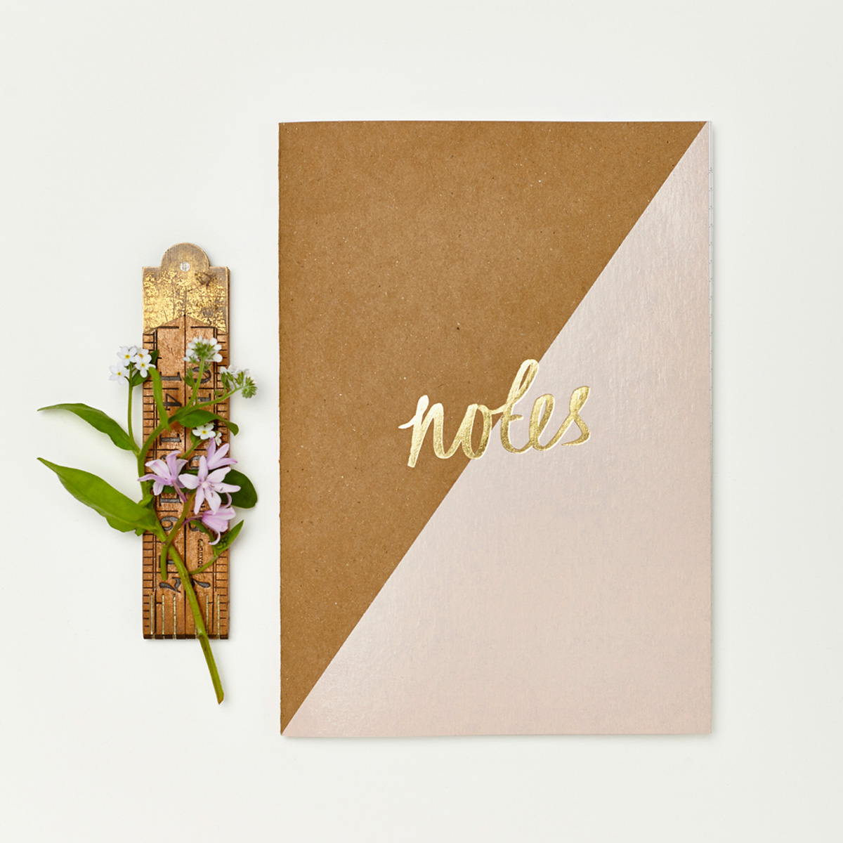 Katie Leamon notebook with gold lettering