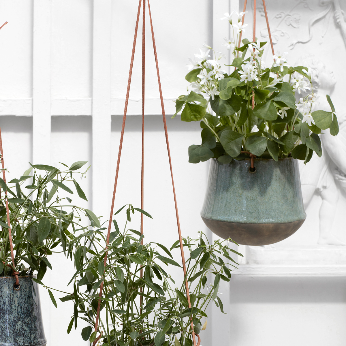 green-ceramic-hanging-plant-pot